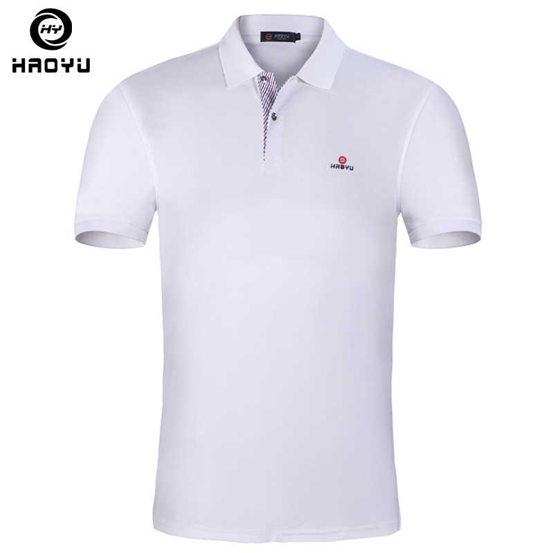 15 Color Mens Polo Shirt Brands Slim Fit Casual Solid Polo Shirts Brand  Clothing Short Sleeve Fashion Haoyu Poloshirt Summer XXL