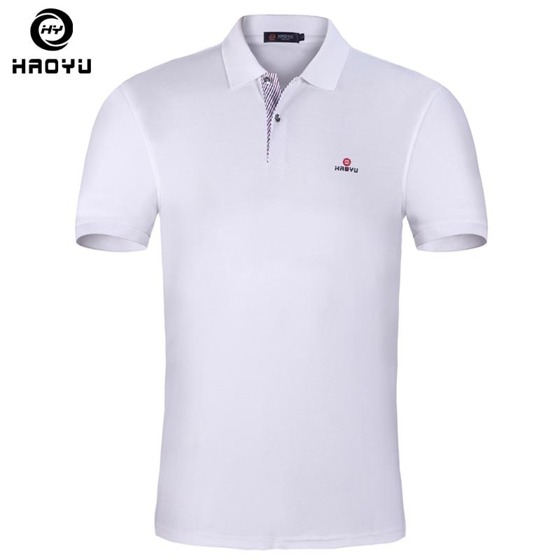 Beste begrenzte garantie immer beliebt US $11.49 36% OFF|15 Farbe Herren Poloshirt Marken Slim Fit Casual Feste  Polo Shirts Marke Kleidung Kurzarm Mode Haoyu Poloshirt Sommer XXL-in Polo  ...