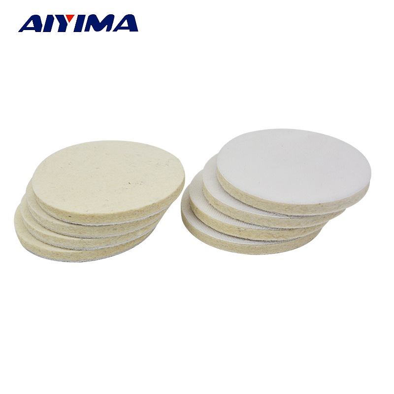 1PCS 100mm*7mm 4 self-adhesion Jewelry Polishing Buffing Wheel Wool Felt Polish Polisher Disc Pad Cloth with soft nap