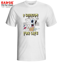 I Scream For Life T-shirt Icecream Funny Melting Fashion Cartoon Pop Hip Hop T Shirt Print Design Women Men Top
