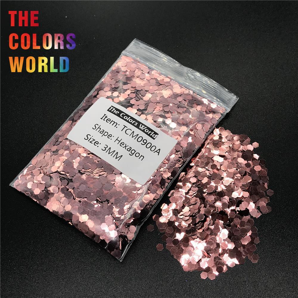 TCM0900A коралловый розовый цвет металлический блеск Шестигранная форма блеск для ногтей Дизайн ногтей украшения макияж гель хна татуировки ручной работы DIY