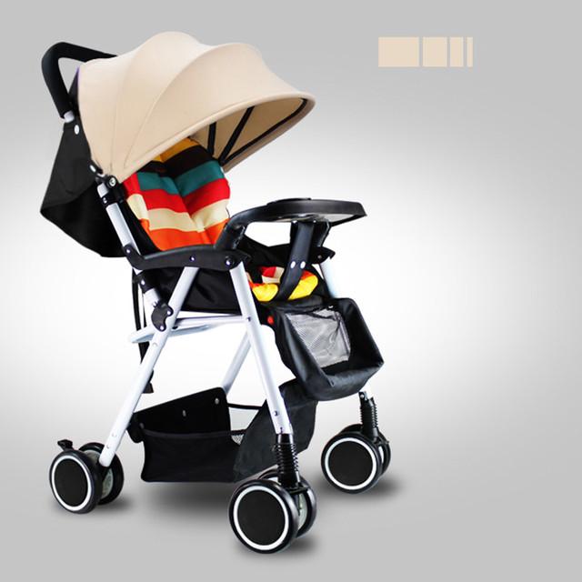 Ultra portátil bebê carrinho de criança dobrável carrinho guarda-chuva