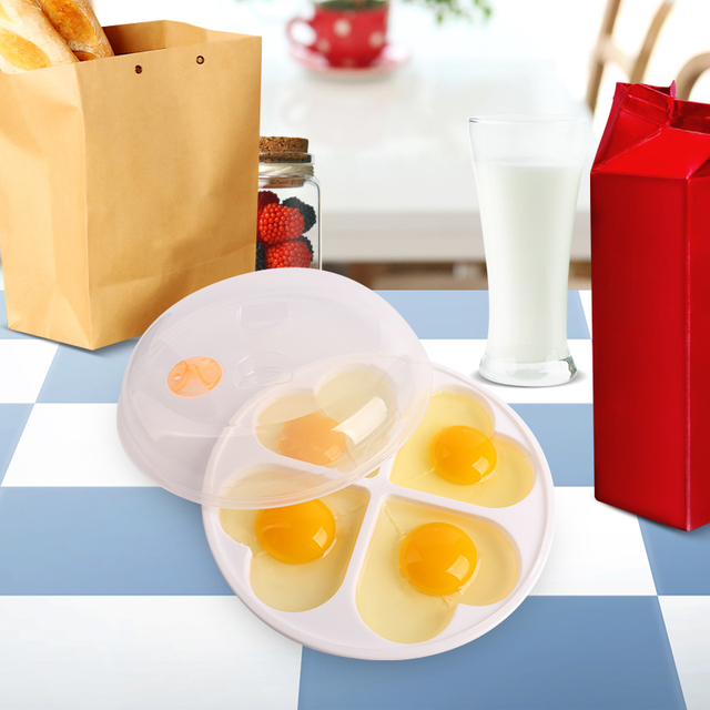 Microwave egg cooker love heart shaped mold boiler