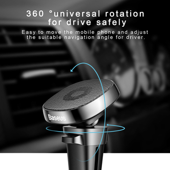 Baseus Metal Car Phone Holder For iPhone 11 Pro Sumsung S9 Xiaomi Magnetic Phone Holder Air Vent Mount Mobile Phone Holder Stand 3