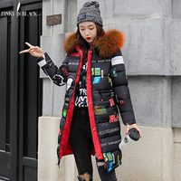 PinkyIsBlack Fashion Hooded Warm Long Parkas Thick Winter Coat Women 2018 Two Side Wear Down Cotton Winter Jacket Women Outwear