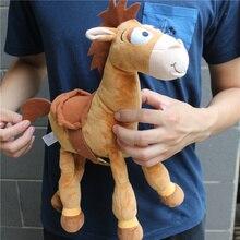 1 قطعة 35 سنتيمتر = 13 بوصة الأصلي أفخم Bullseye الحصان لطيف خشبية الحصان للأطفال هدية الاطفال ألعاب من القطيفة ألعاب الأطفال