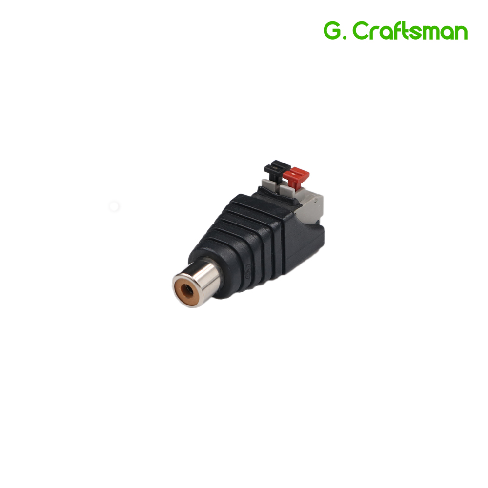 RCA Female Plug Push Fastening Type 12V Connector CCTV Cameras Socket Adapter System Accessories B30 G.Ccraftsman