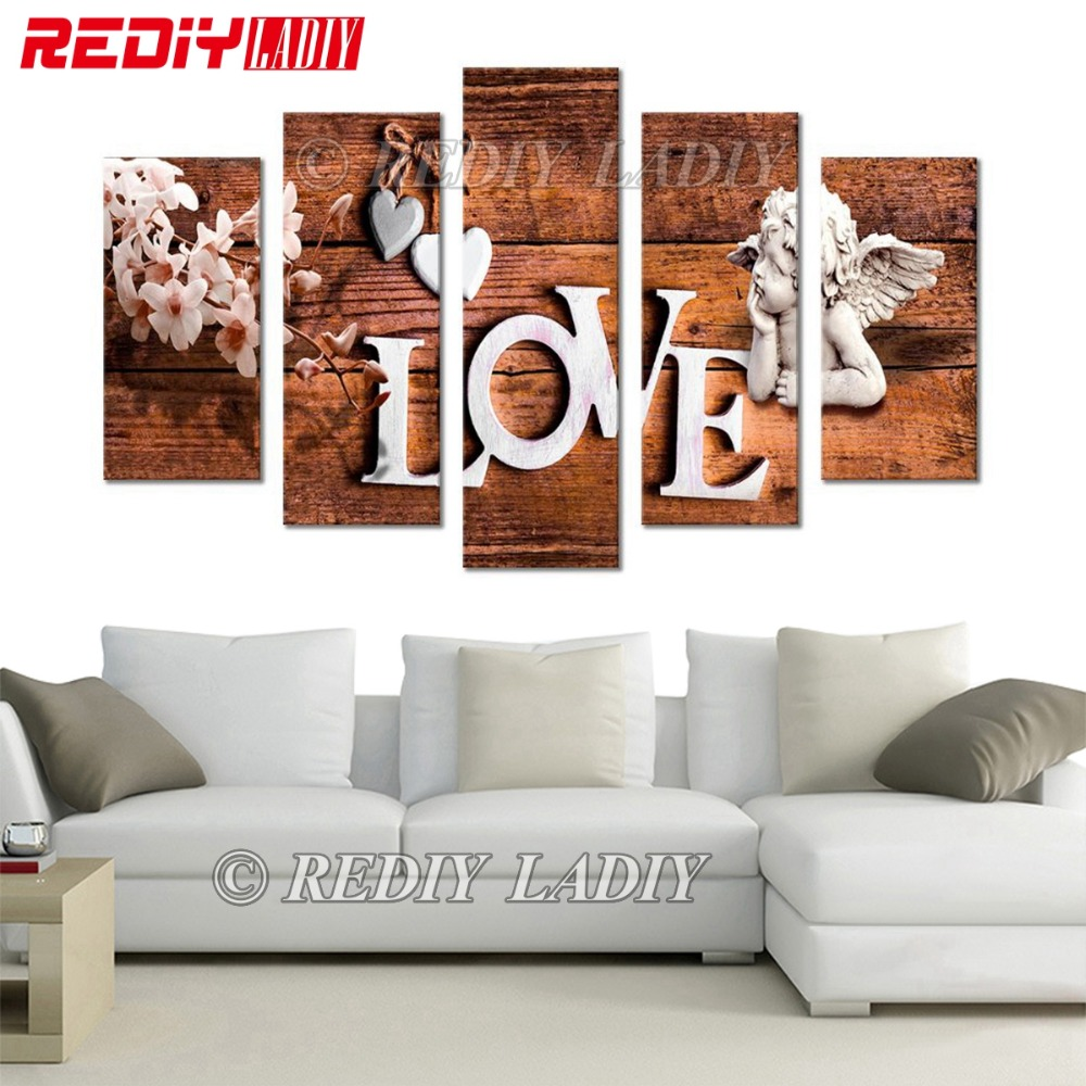 REDIY LADIY 5D Diamond Embroidery Triptych Full Square Crystal Modular Picture Love Cupid Angel Diamond Painting