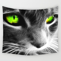 Comwarm 3D Creative Cool Cats Series Pattern Polyester Tapestry Animal Printed Wall Hanging Mural Gobelin Living Room Home Decor 1