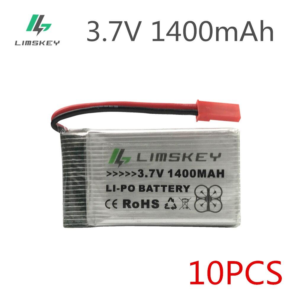 Limskey 1400mah para h11d h11c h11wh bateria ultra-alta capacidade 3.7 v 1400mah zangão quadcopter h11d h11wh hq898b