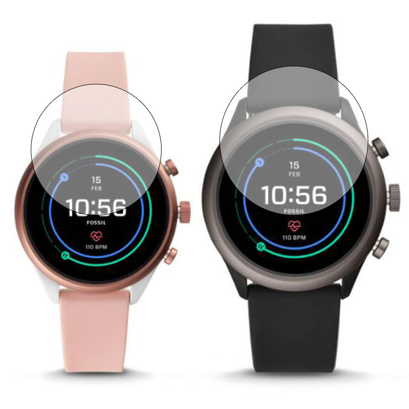Tempered Glass Clear Protective Film Protection For Fossil Sport Watch 41mm 43mm Case