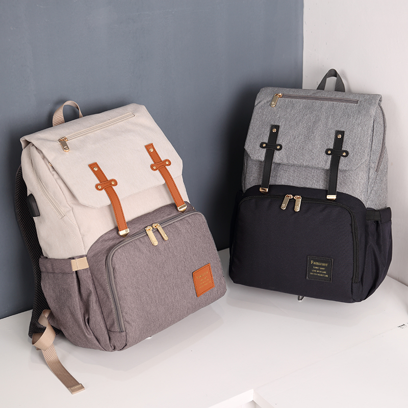 HTB1RXnbX8WD3KVjSZKPq6yp7FXa3 2019 Diaper Bag Mummy Daddy Backpack Baby Stroller Bag Waterproof Oxford Handbag Nursing Nappy Bag Kits USB Rechargeable Holder