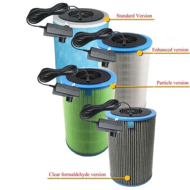 Домашний очиститель воздуха, HEPA фильтр для удаления пыли PM2.5, формальдегид, TVOC, дезодорирующий очиститель воздуха для дома и автомобиля