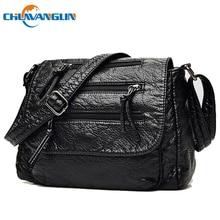 8eabb35d315c9 Chuwanglin Moda Kadın Çanta bayanlar el Yıkanmış deri çantalar omuzdan  askili çanta Crossbody Çanta Kadın postacı