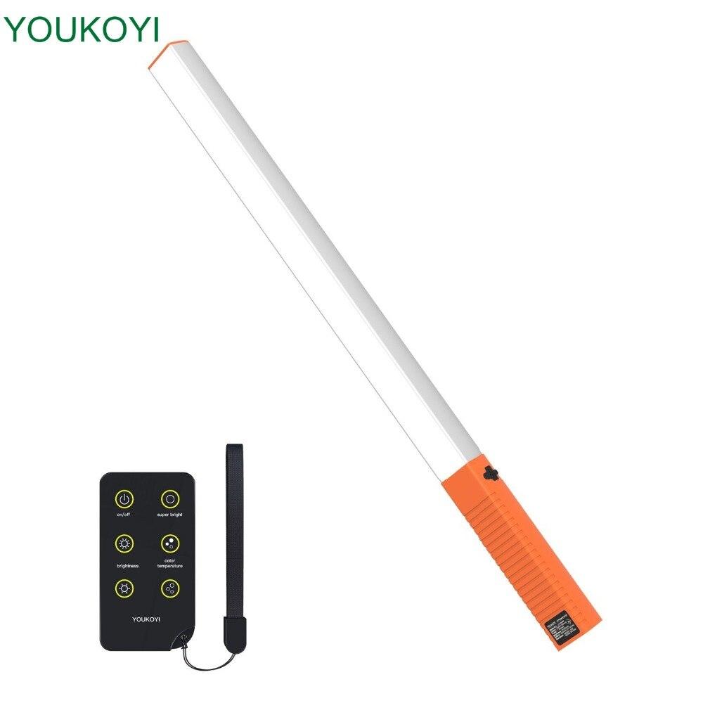 Appareil photo lumière Portable LED Portable baguette lumineuse avec sac de transport IR télécommande USB Rechargeable photographie de lumière glacée