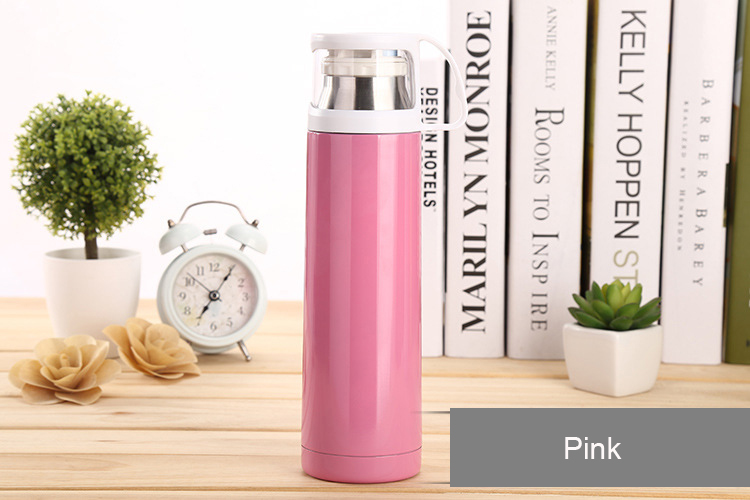 500mL Vacuum Insulation Cup steel warm water bottle heat pot outdoor,Travel Mug Tea Coffee Water Bottle Stainless Steel