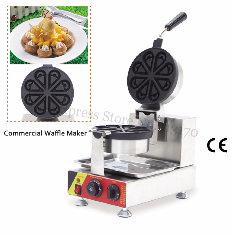 Rotated Waffle Machine 8 Petals Shaped Waffle Maker Waterdrop-shaped Waffle Baker Non-stick Cooking Surface 220V 110VRotated Waffle Machine 8 Petals Shaped Waffle Maker Waterdrop-shaped Waffle Baker Non-stick Cooking Surface 220V 110V
