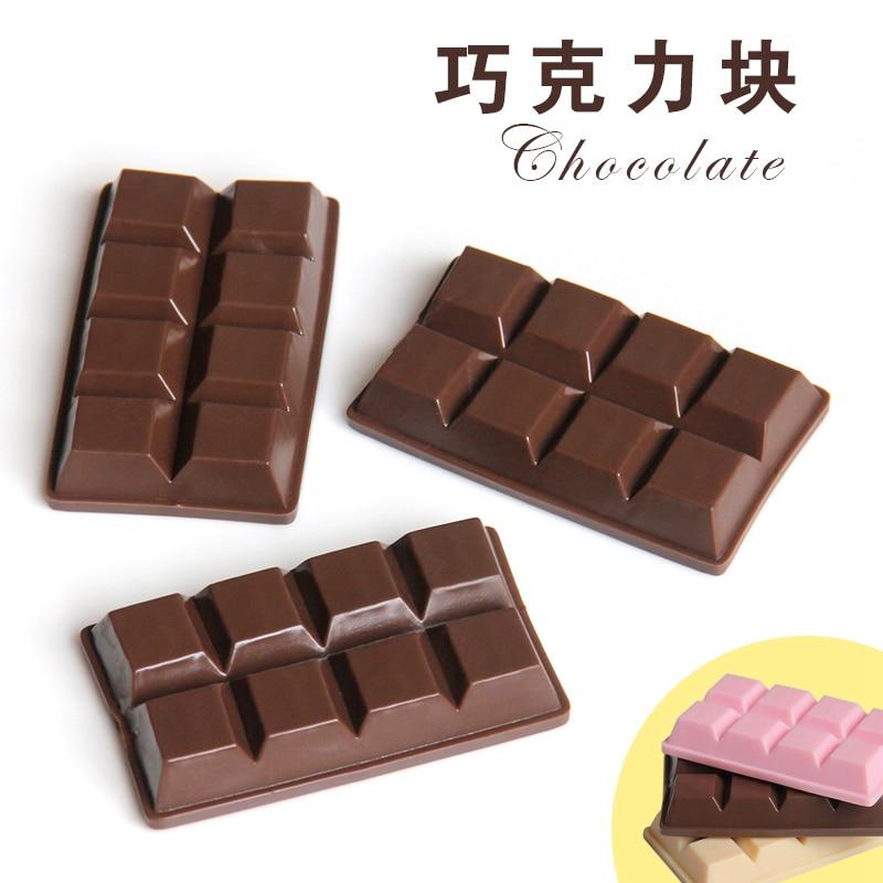 3PCS/lot PVC Chocolate 1:1 Miniature Food Fake Chocolates Simulation Food Kitchen Toys DIY Deco Parts Plastic Craft