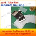 100 unids/lote Antes de la división shell desmontaje marco de la caja del teléfono reparación de la pantalla LCD tarjeta de visita tarjeta de lámina de plástico