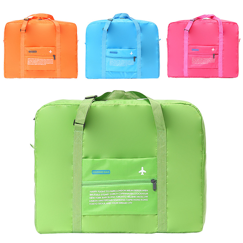 suitcase bag High capacity candy color folding luggage