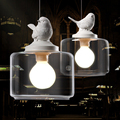 Industrial Vintage Pendant Light Original Bird Designer Loft Bar Cafe Restaurant Glass Pendant Lamp Free Shipping