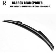 F36 Carbon Fiber Rear Wing Spoiler for BMW F36 420i 428i 435i GranCoupe 4 Door 2014 2015 2016 Auto Racing Car Tail Trunk Lip
