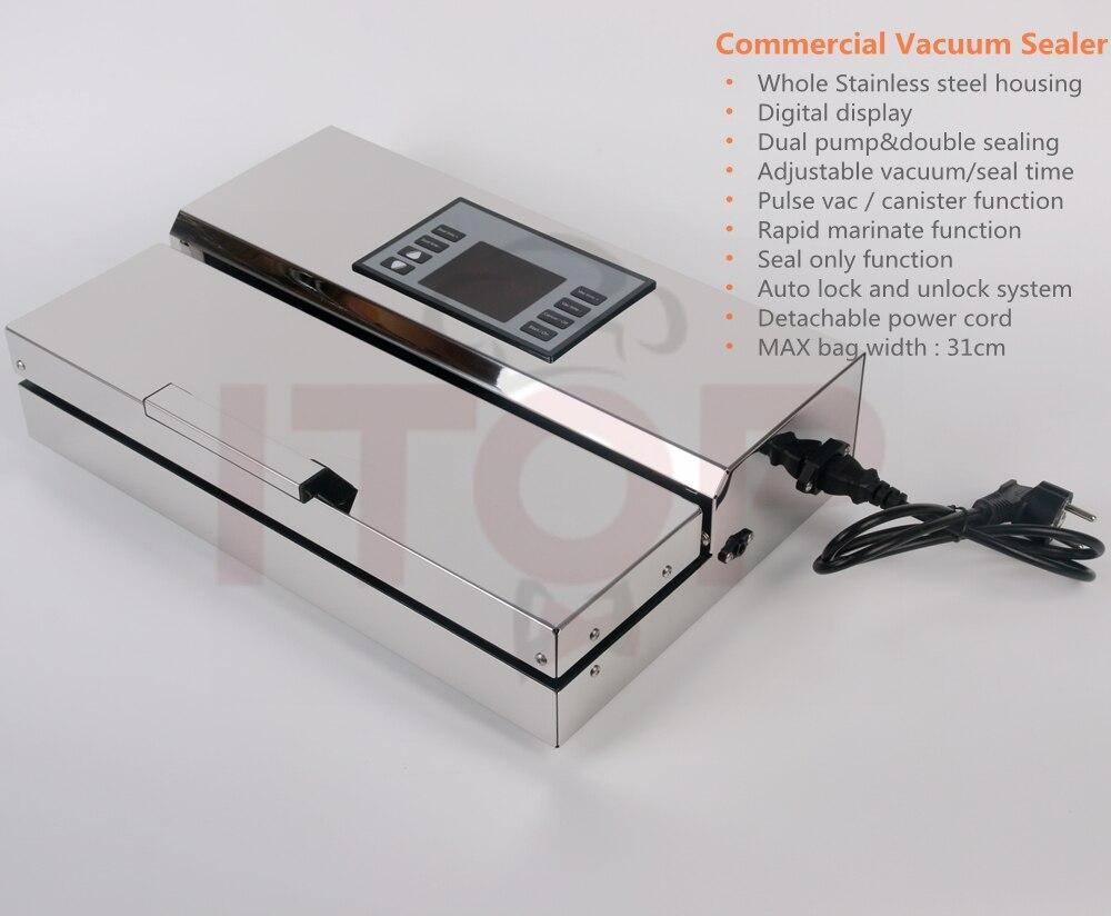 Machine Sous Vide Inox Food Processor Vacuum Sealer Packaging Machine  Commercial Vacuum Sealer EU Plug Stainless Steel Body In Food Processors  From Home ...