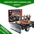 Nueva Lepin 20019 2088 unids Technic Serie Ultimate El Mecánico de Camiones Unimogu Conjunto de Bloques de Construcción Ladrillos Juguetes 8110