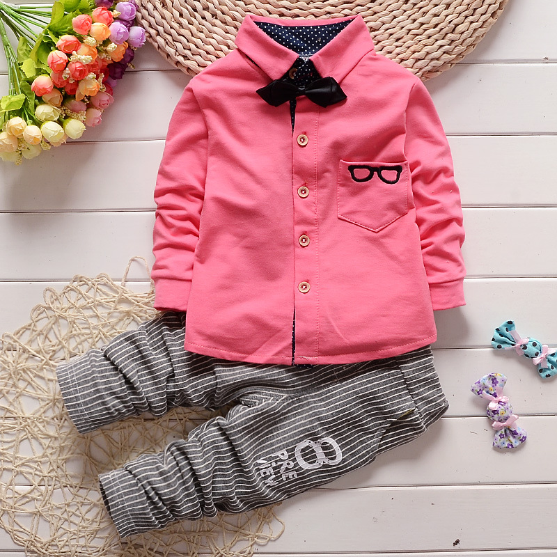 2016 new childrens clothes suit spring cute baby boy shirt and fashion sports pants suit children fashion style