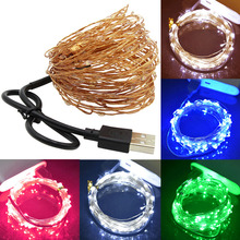 5/10M USB Powered LED String Light Copper Wire Waterproof Fairy Lights RGB Decoration Strip Lamp for Party Wedding Christmas