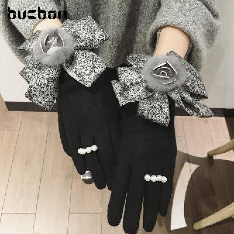2018 Autumn Winter Women Gloves Touch Screen Gloves Cashmere Wool Mittens Wrist Warmer Fashion Korean Thin Female Gloves AGB311