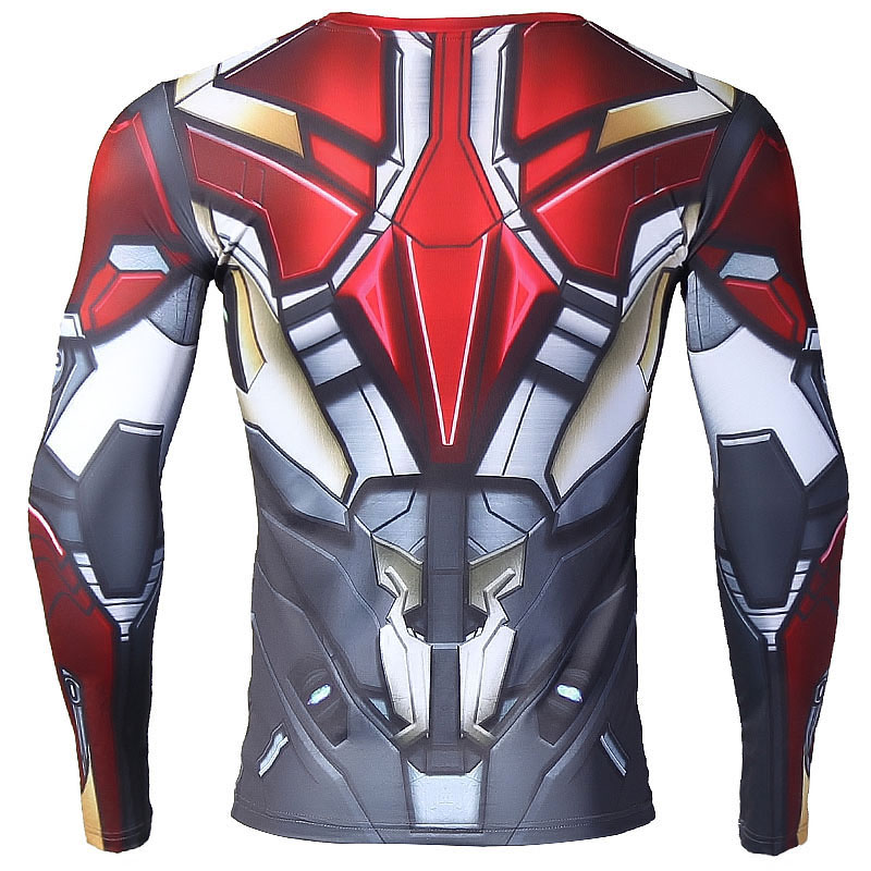 Iron man 3D Printed T shirts Compression Shirt 2018 Spiderman Cosplay Costume Long Sleeve Tops Women/Men Crossfit Fitness Cloth