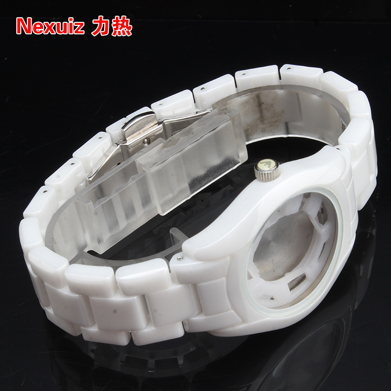 White NEW Watchbands 18mm,High Quality Ceramic Watchband   Diamond Watch fit AR1405  women watches Bracelet  WATCHBAND new watchbands 18mm high quality ceramic watchband black diamond watch fit ar1412 women watches bracelet watchband