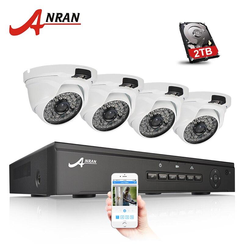 ANRAN Plug & Play 4CH NVR 48V POE CCTV System Onvif P2P 1080P HD H.264 IR Night Vision Outdoor Security POE IP Camera Kit система видеонаблюдения anran security 2 hdd 8 nvr onvif 1080p hd h 264 ir ip 8ch hk02w ip2 0 4