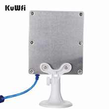 KuWfi 150Mbps Wifi Receiver Soft AP High Gain 14dBi  Antenna 5m Cable USB Adapter High Power Outdoor Waterproof Long Range