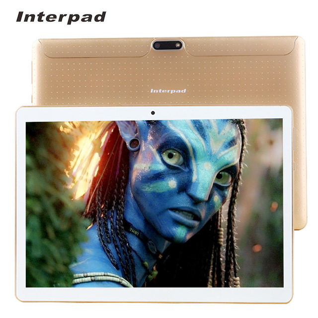 Original Interpad 10.1 Inch Tablet Quad Core Android 6.0 MTK6580 3G Phone Call IPS WiFi 7 8 9 10 android tablet RAM 2GB ROM 16GB
