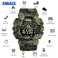 SMAEL Men Smart Watch Calories Pedometer Bluetooth Call Reminder 50M Waterproof Digital Sports Mens Watches Relogio Masculino