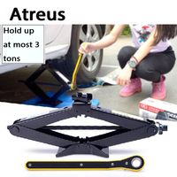 Atreus 3 Tons Car styling Wind Up Lift Crank Speed Handle Emergency for Mercedes benz W204 W203 W211 AMG Mini cooper Skoda