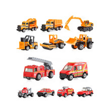 New 6 Pcs Construction Vehicles Pull Back Toy Cars Kids Mini Engineering Car Model Toy Vehicles pull back car mini fire engineering cars model funny vehicle car toy kids toys pull back cars for children boys christmas gifts