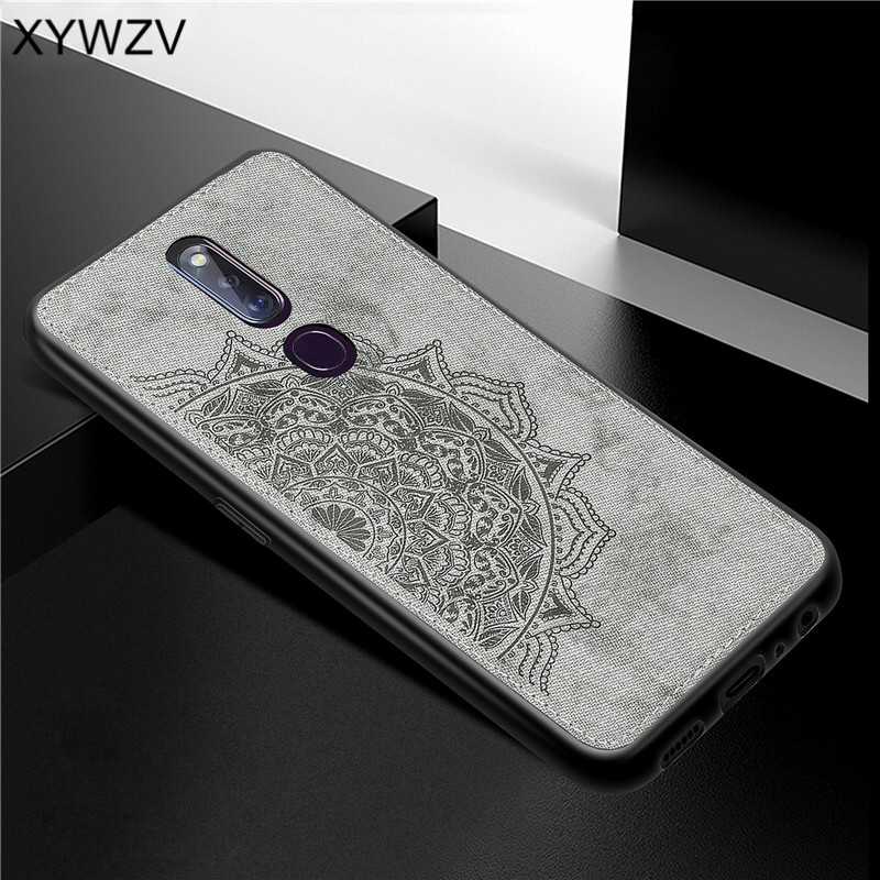 For OPPO F11 Pro Case Shockproof Cover Soft Silicone Luxury Cloth Texture Phone Case For OPPO F11 Pro Cover For OPPO F11 Pro-in Fitted Cases from Cellphones & Telecommunications