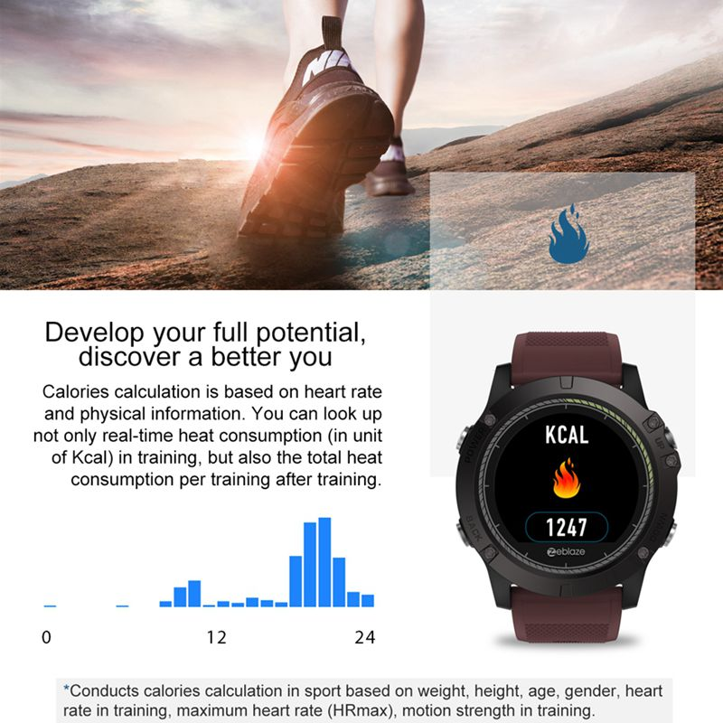 In Stock 2018 Zeblaze Vibe 3 Hr Smartwatch Durability Waterproof