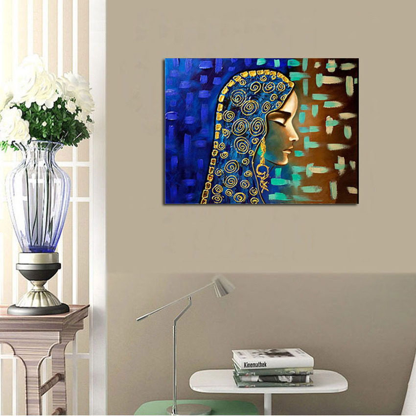 Hand painted modern abstract figures oil painting on canvas egyptian girl canvas art traditional middle east figure art-in Painting u0026 Calligraphy from Home ... & Hand painted modern abstract figures oil painting on canvas egyptian ...