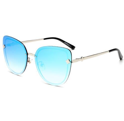 Fashion Vintage Cat Eye Women Sunglasses Oversize Rimless Flower Sun Glasses Mirror Eyewear2613 2624