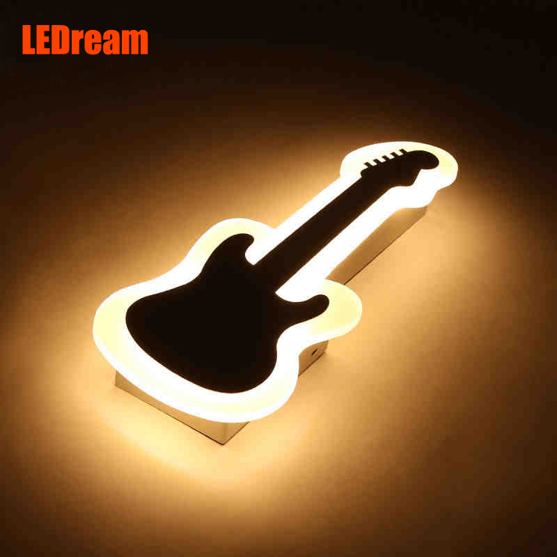 The violin art led wall lamp The lamp of the head of a bed bedroom Contemporary and contracted guitar creative corridor lighting art of war