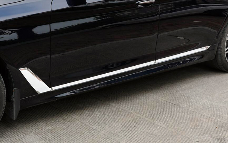For BMW 5 SERIES G30 2017 2018 ABS Chrome Exterior Car Body Molding Cover Trim 6pcs Car Styling Accessories! car auto accessories rear trunk molding lid cover trim rear trunk trim for nissan sunny versa 2011 abs chrome 1pc per set