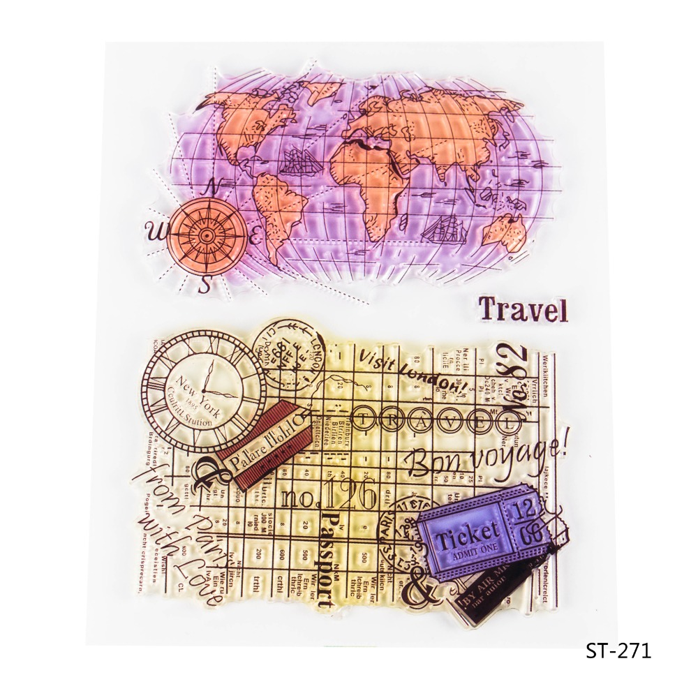 World MapTransparent Clear Silicone Stamp/seal for DIY Scrapbooking/photo Album Decorative Clear Stamp Sheets. lovely animals and ballon design transparent clear silicone stamp for diy scrapbooking photo album clear stamp cl 278