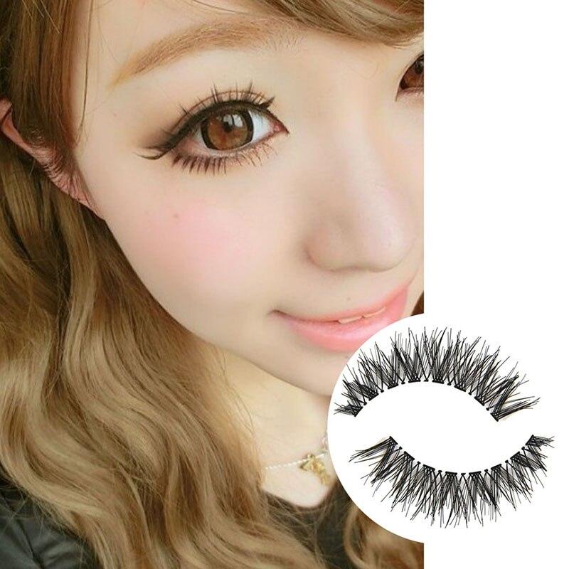 5 Pairs New Fashion Black Cross False Eyelash Soft Long Makeup Eye Lash Extension DL