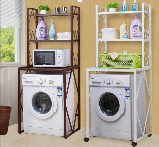 Bon Strong Washing Machine U0026 Microwave Oven Strage Rack Brown, White Color