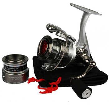 HAIBO Brand LAMBOR Lure Fishing Reel 10S 20S Metal Spinning Fishing Reel with Spare Spool Max Drag 6.5kg 5.2:1 Sea Coil