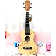 23 Concert Spruce Small Flowers ukulele 4 Strings ukelele Hawaii mini small guita travel  acoustic guitar Uke